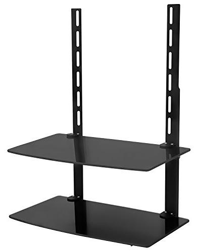 Mount-It! Wall Shelf DVD and Accessories, Two Tempered