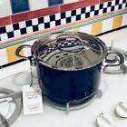 NEW Chantal ProDesign 4 qt Cobalt Blue Soup Pot w/ Lid Ename