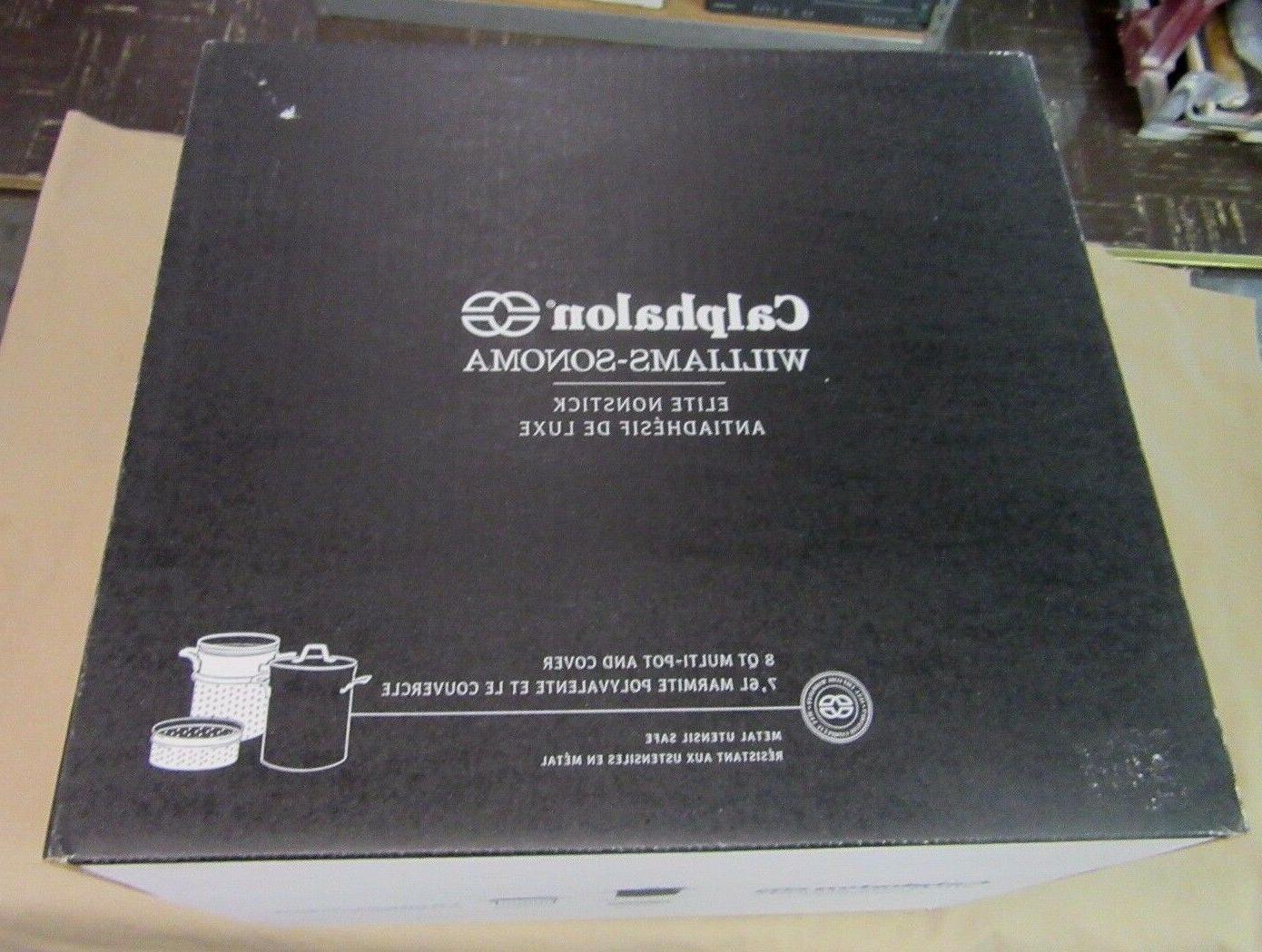 New Calphalon Williams Sonoma Elite NonStick 8 QT Multi-Pot