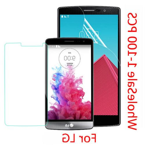 New Real Tempered Glass Screen Protector PET Soft Film For L