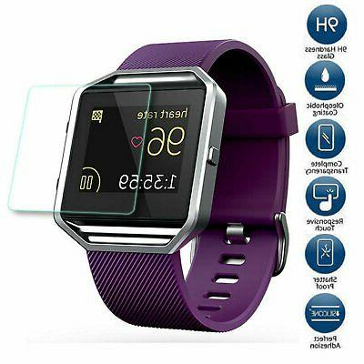 Premium Tempered Glass Screen Protector Guard for Fitbit Bla