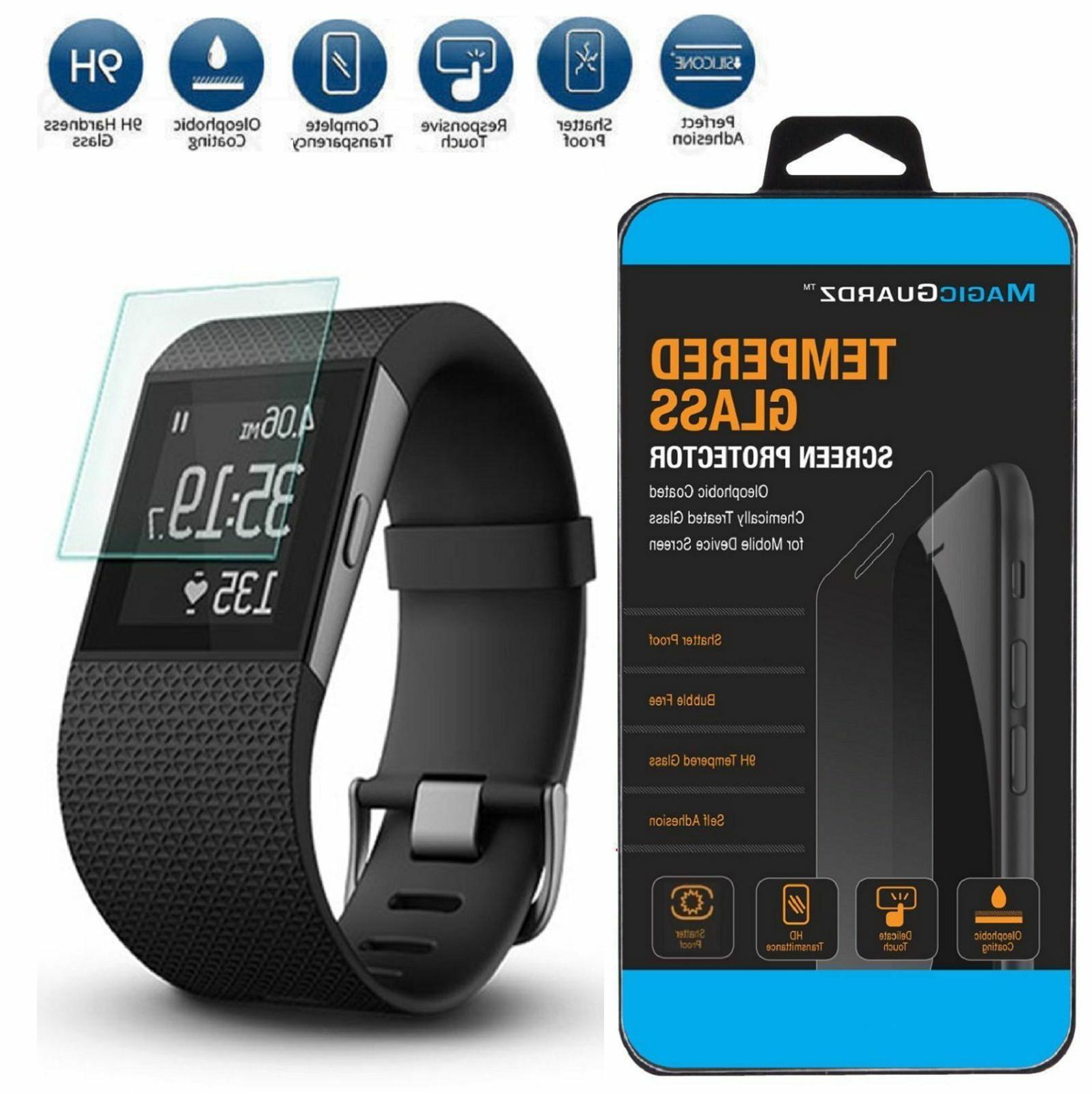 Premium Tempered Glass Screen Protector Guard for Fitbit Sur