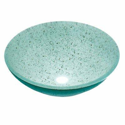 Renovator's Supply Tempered Glass Vessel Painted Waterdrop B