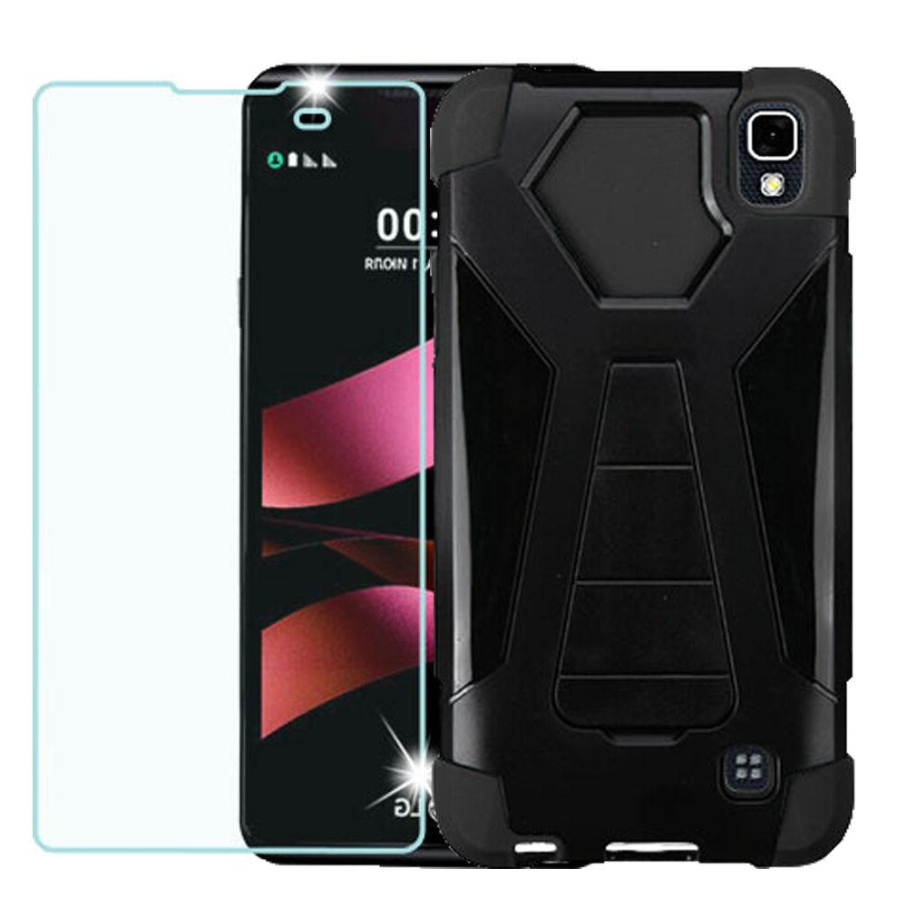 SHOCKPROOF CASE W/STAND COVER+TEMPERED GLASS FOR LG TRIBUTE