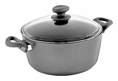 Saflon Titanium Nonstick 8-Quart Stock Pot with Tempered Gla