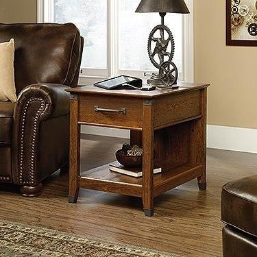"Sauder 413350 Carson Forge Smartcenter Side Table L: 22.09"""