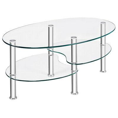 Tempered Glass Coffee Table Base New