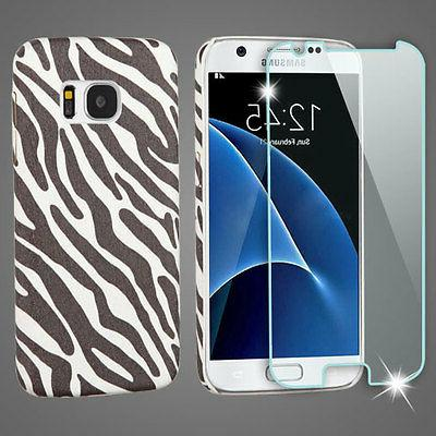 Zebra Skin Mod Leather case Tempered Glass Screen SAMSUNG G9