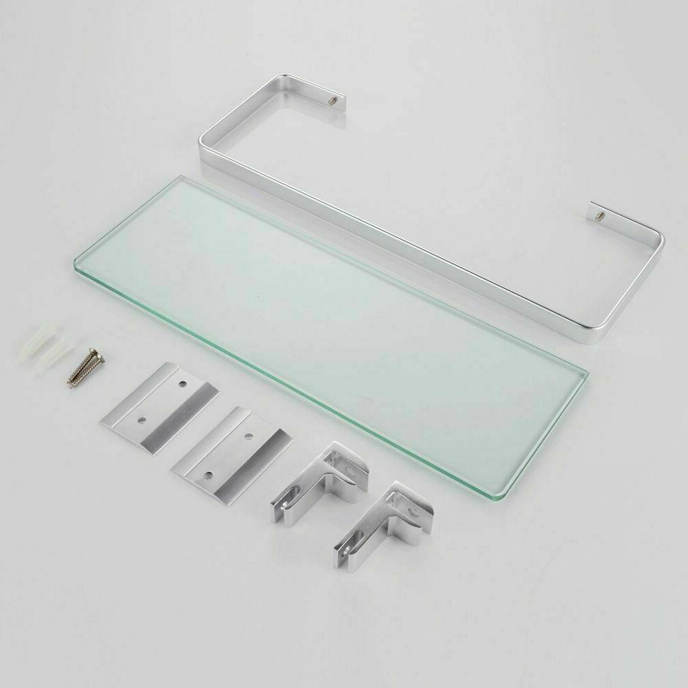 KES Aluminum Bathroom Glass Shelf 1