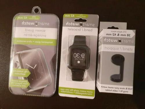 apple watch 40mm lot tempered glass black