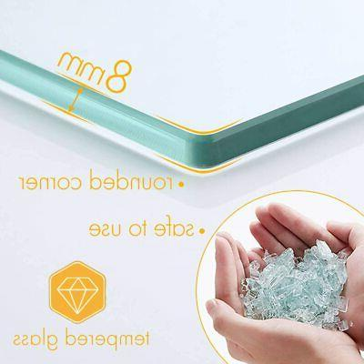 KES Bathroom Anodized Tempered Glass 8MM Extra Pack