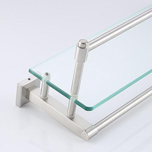 KES SUS304 Bathroom Glass Shelf Wall Mount Towel and A2225DG-2