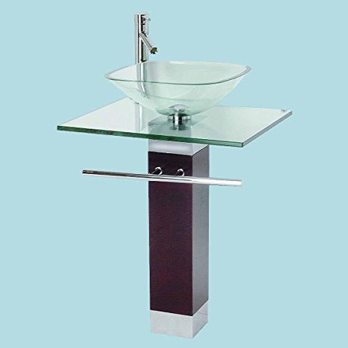 Bathroom Faucet Wood Pedestal