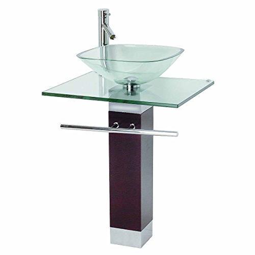 bathroom pedestal sink faucet combo