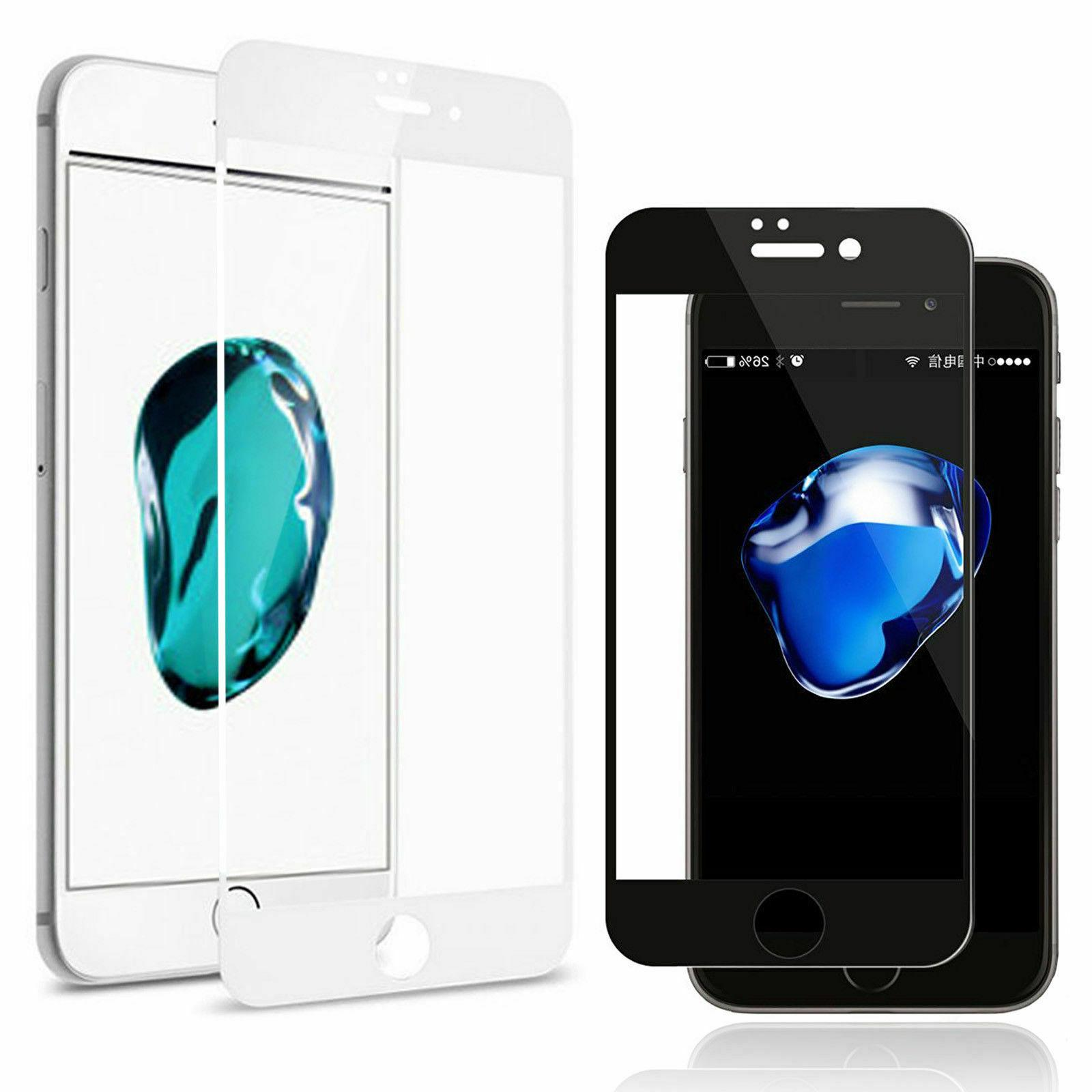 black white 3d real tempered glass screen