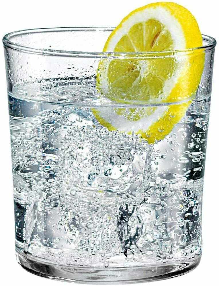 Of 12 Medium 12oz Clear Tempered Glass