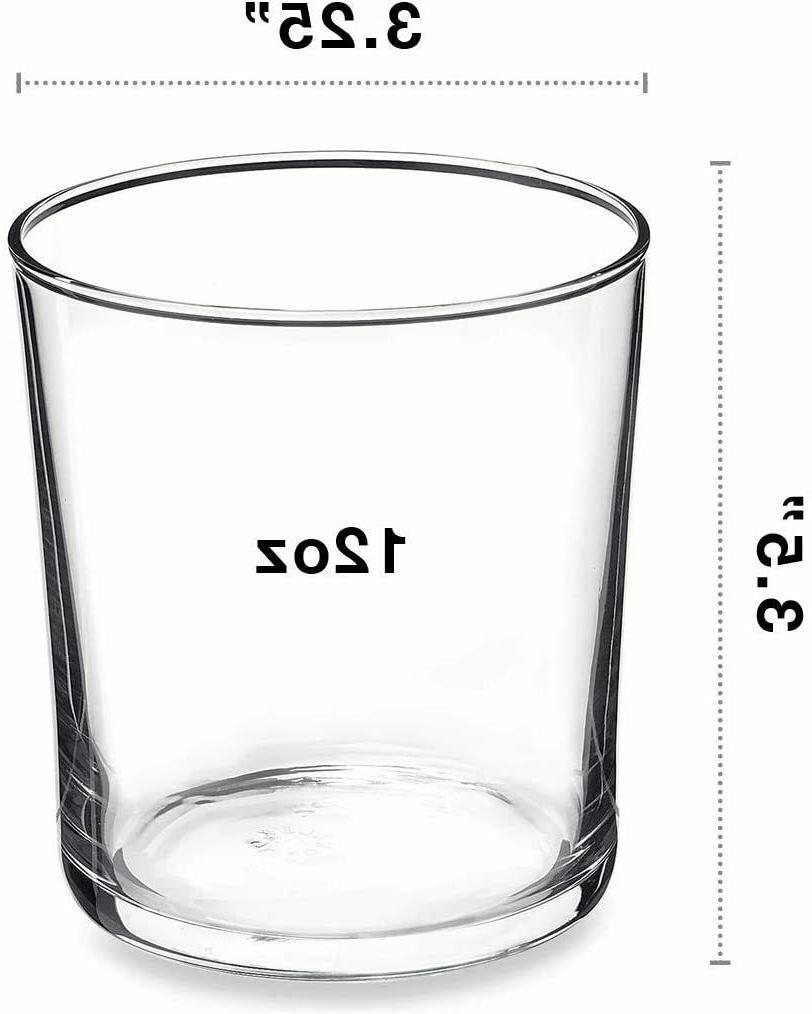 Bormioli Rocco Bodega Of 12 Medium Clear Glass
