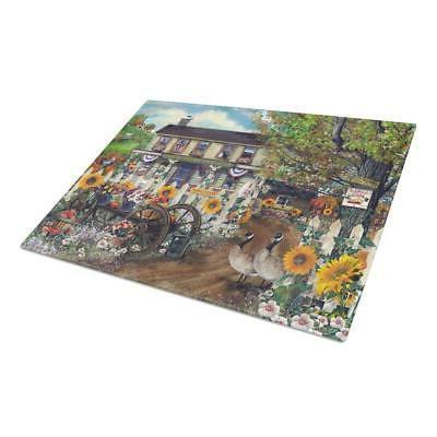carolines treasures cutting board 15x15 inch large