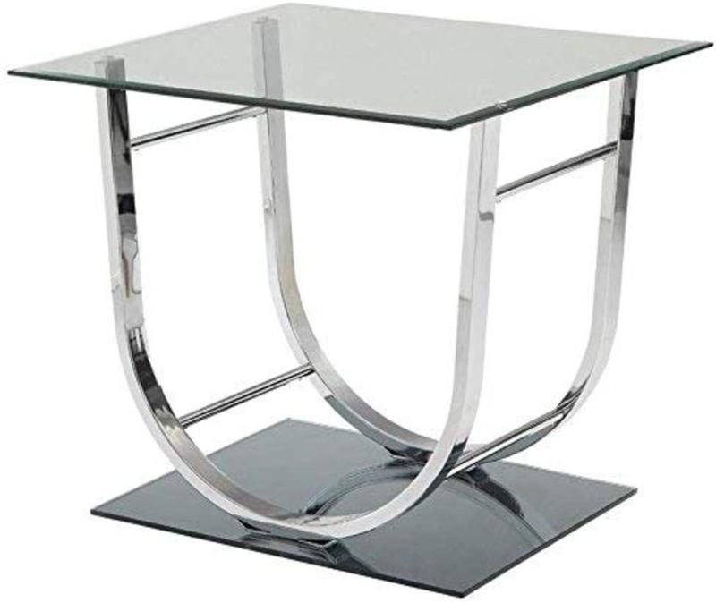 Coaster End Chrome Half Glass High-Quality