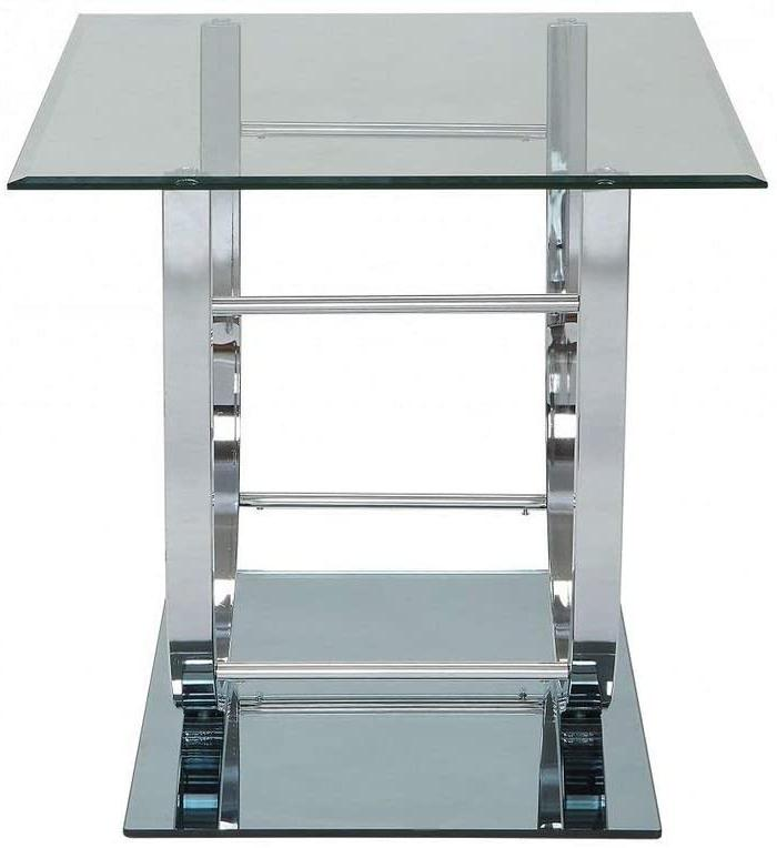 Coaster 704987-CO End Table Chrome Half High-Quality