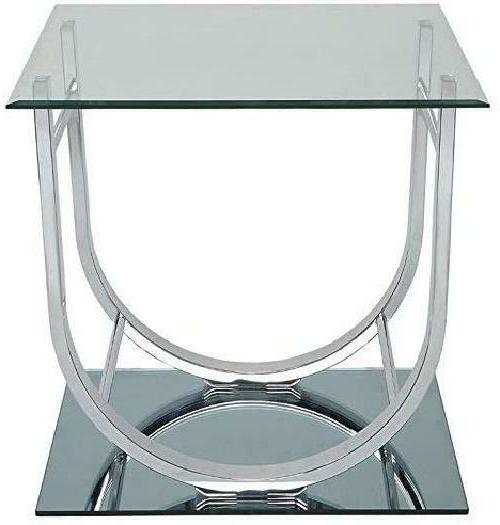 Coaster 704987-CO End Table Chrome Tempered Half