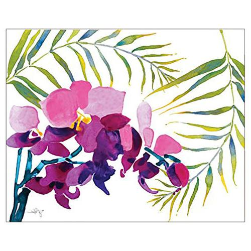 CounterArt Board Tempered Tropical Flowers 15 x
