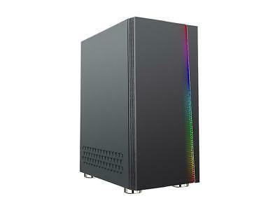 DIYPC DIY-D2-RGB Black Steel/ Tempered Glass ATX