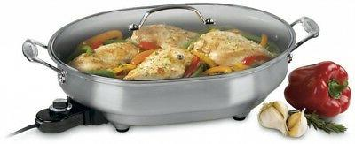 electric skillet w tempered glass lid csk