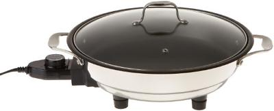 CucinaPro Electric Skillet with Tempered Glass Lid- Professi