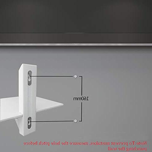 LQWQM Floating TV Shelf Mounted, Upgraded Version White Shelves Accessories Snowy