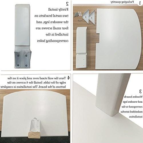 LQWQM Floating Wood Shelf Wall Version White AV for TV Accessories