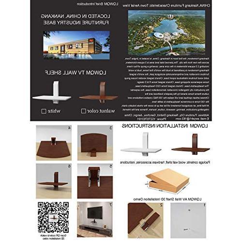 LQWQM TV Shelf Wall Version AV Shelves for TV Multimedia Accessories - White