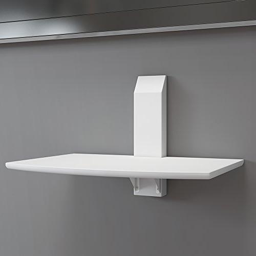 floating wood tv shelf wall