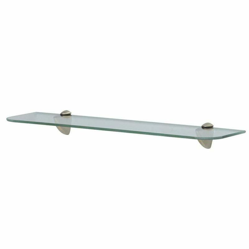 glass shelf kit satin nickel mounting hardware