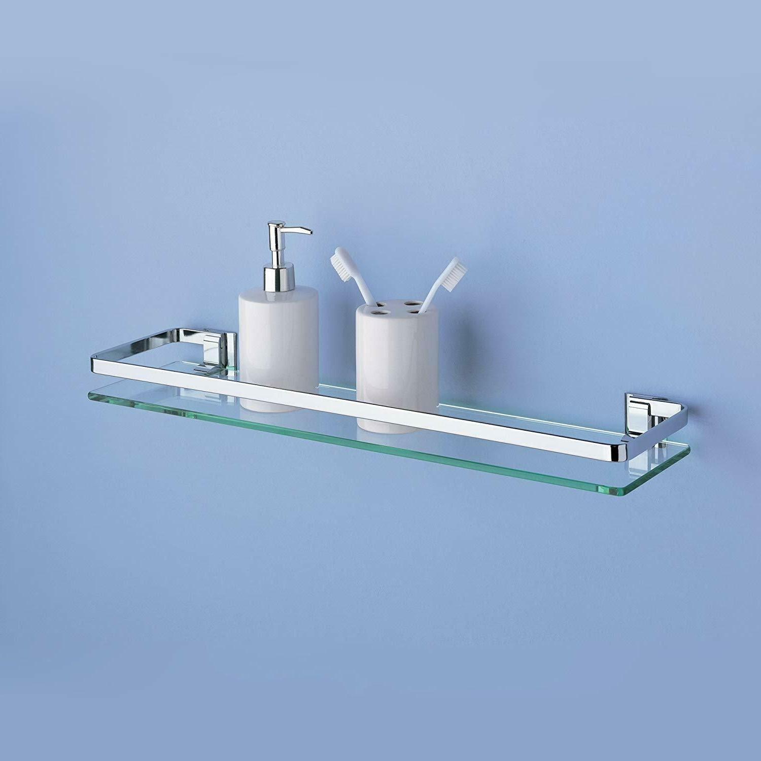 Glass Shelves Bathroom Wall Tempered Drywall