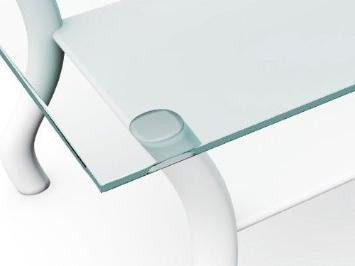 "Fab 24x36RECT6THFLTE-T 1/4"" Thick Flat Edge Tempered Corners Table X 36"", Clear"