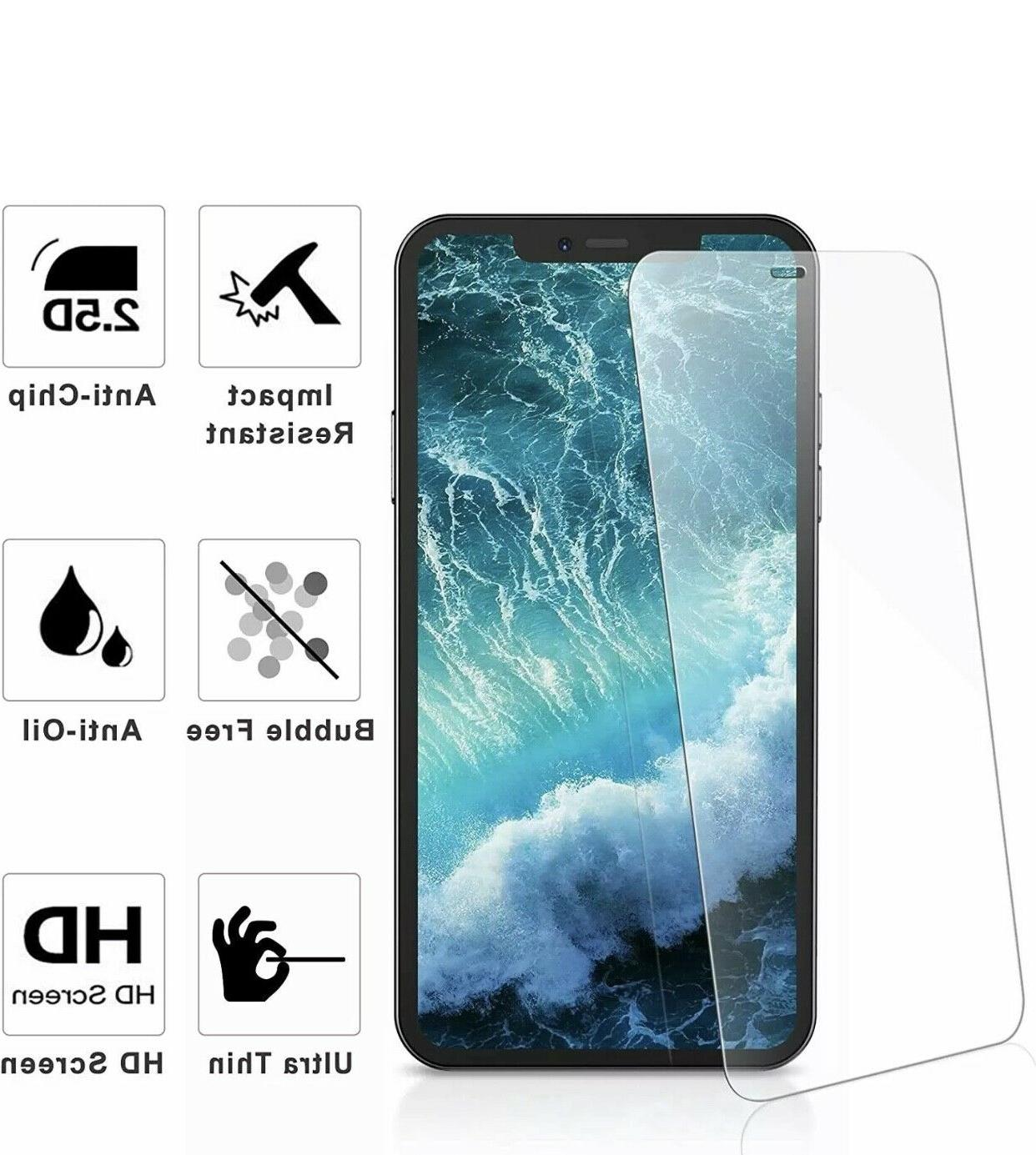 For iPhone Pro XS Max 8 Tempered Screen 3-PACK