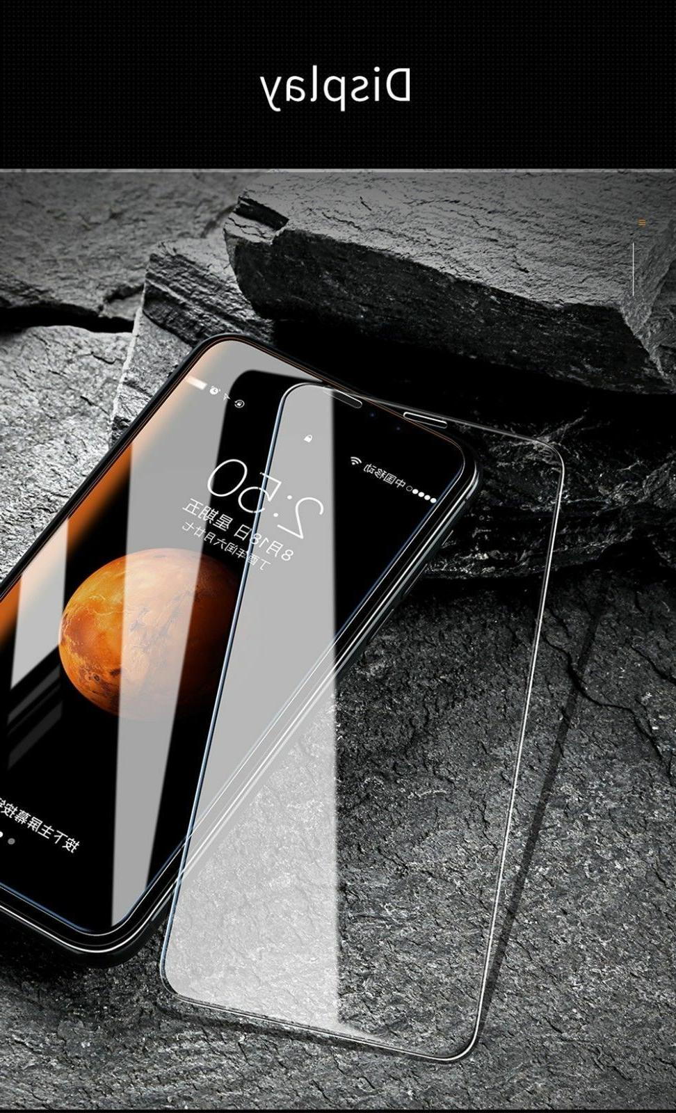 For iPhone X Max XR Premium HD Full Tempered Glass Screen Protector
