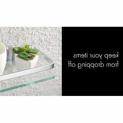 KES Bathroom Shelf Glass Rectangular 1 Extra