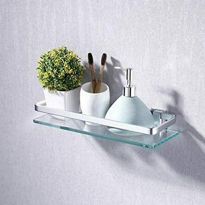 KES Aluminum Bathroom Glass Shelf 1 Tier
