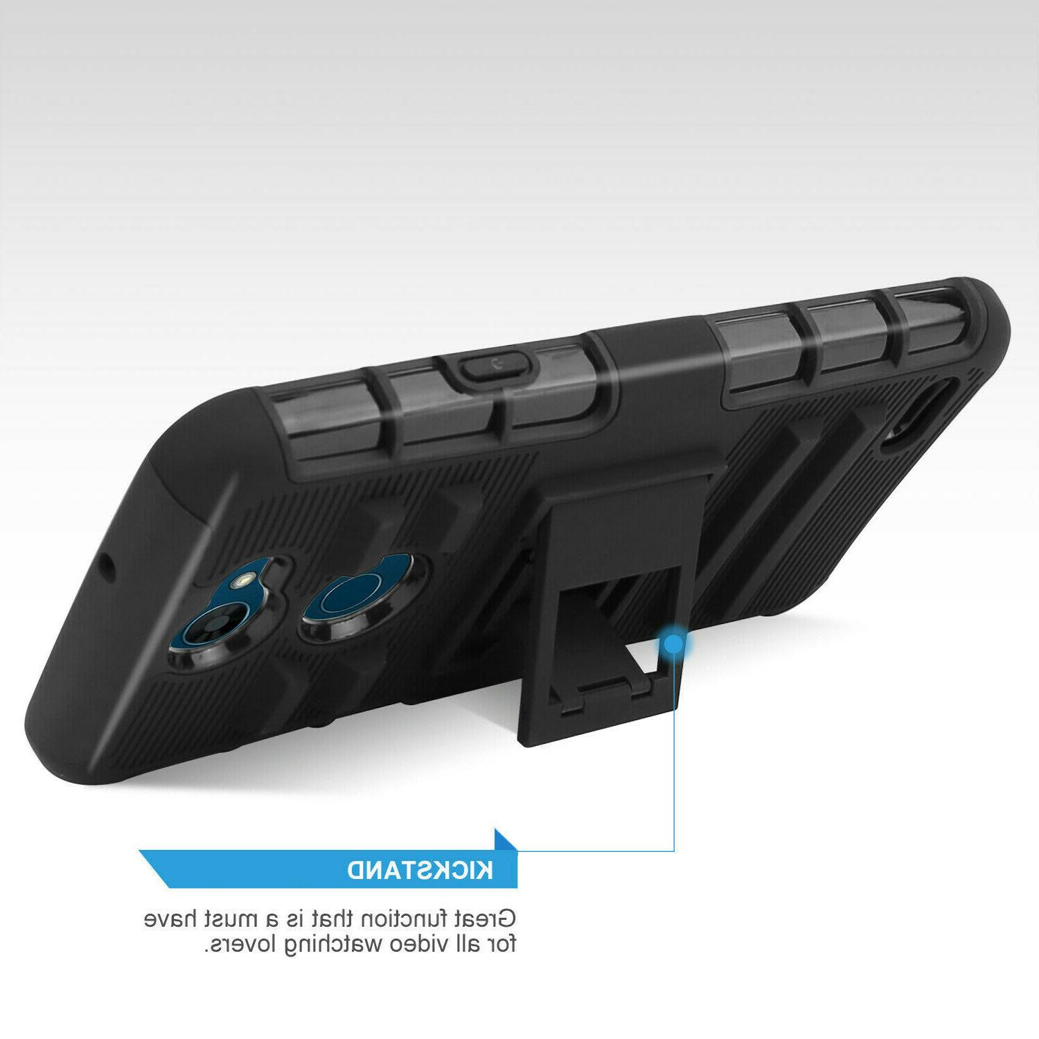 For X Charge/Fiesta 2 Rugged Case Holster+Clear Glass