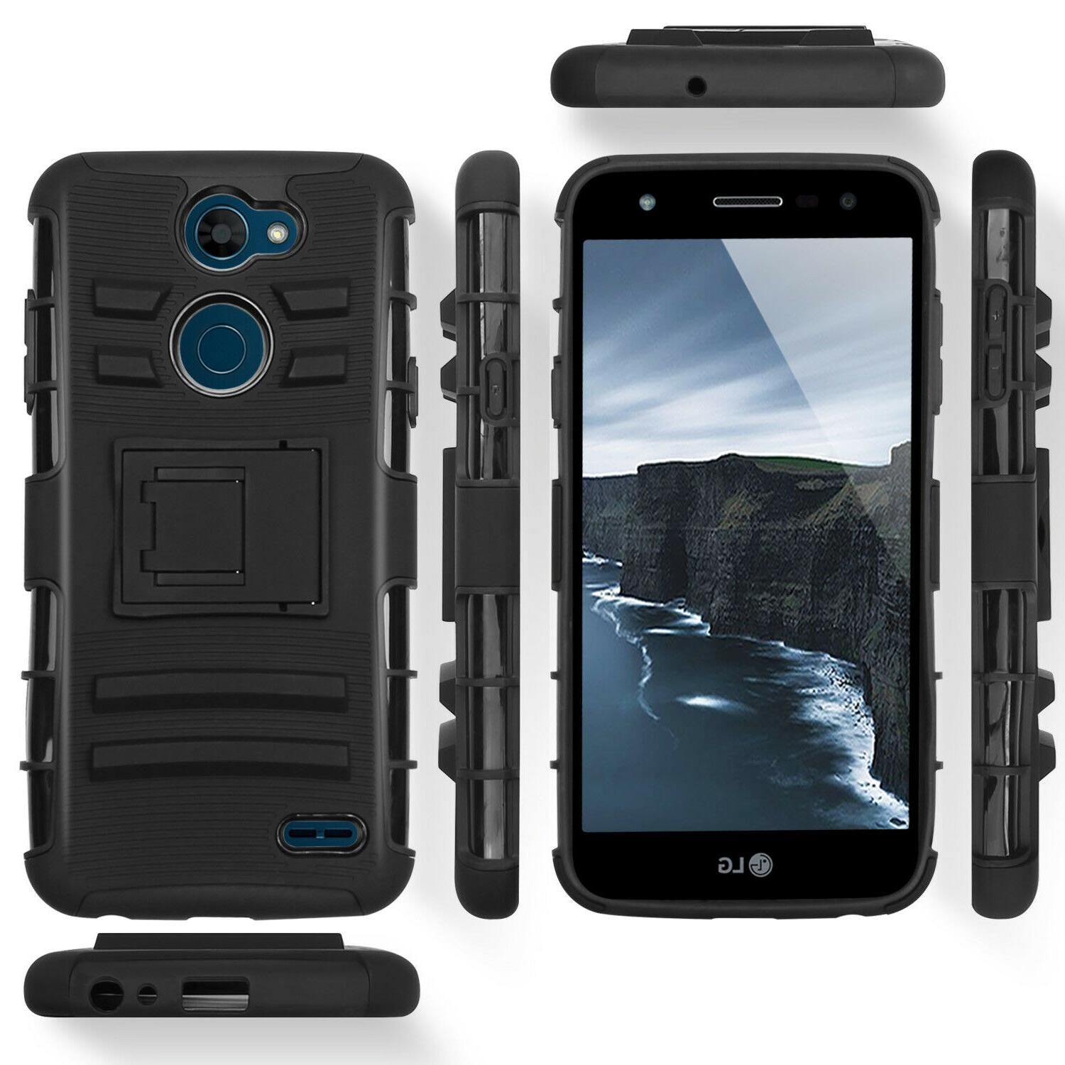 2 Rugged Case Holster+Clear Tempered Glass