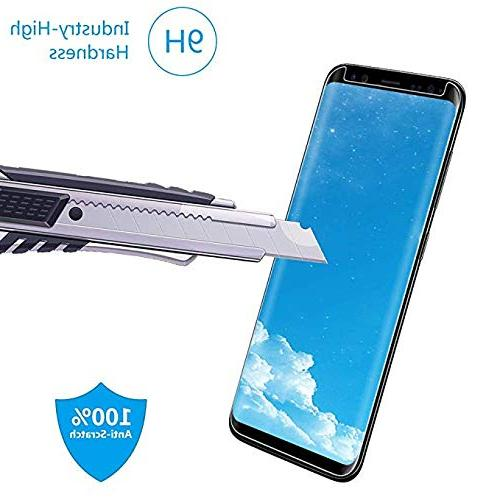 LuettBiden Compatible Samsung S8 Tempered Protector,LuettBiden Galaxy