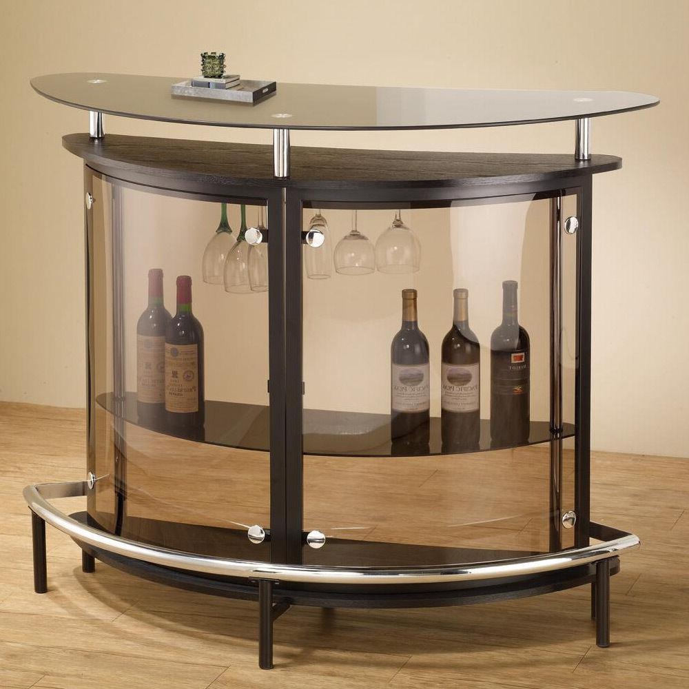 Modern Home Black Table Smoked