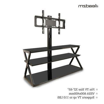 Multi-Function with Mount Glass Shelf for 32 - 65