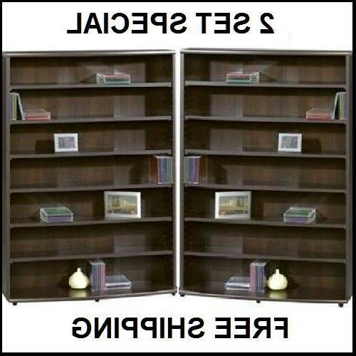Multimedia DVD Tower CD Rack Shelf Storage Cabinet Organizer