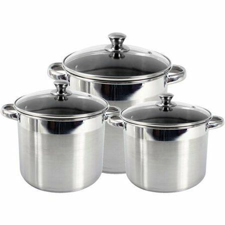 New Stainless Steel Stockpot w Tempered Glass No Tax