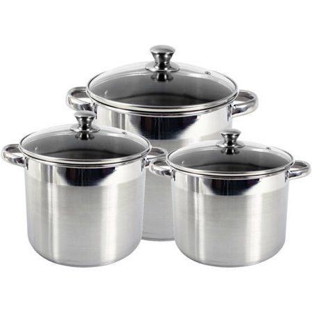 New Stockpot Soup w Tempered Glass Lid