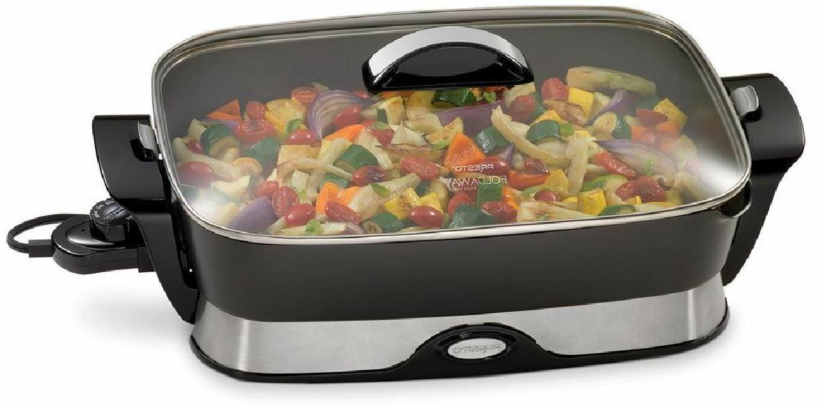 non stick electric skillet buffet server tempered