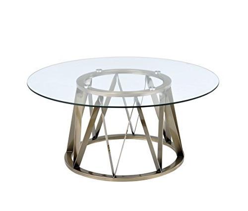 perjan antique brass coffee table